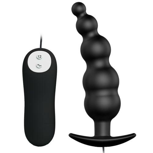 Plug anal silicona 12 vibraciones