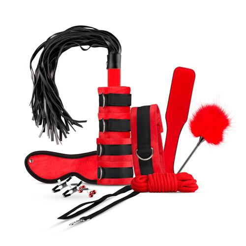Kit 9 piezas bondage rojo