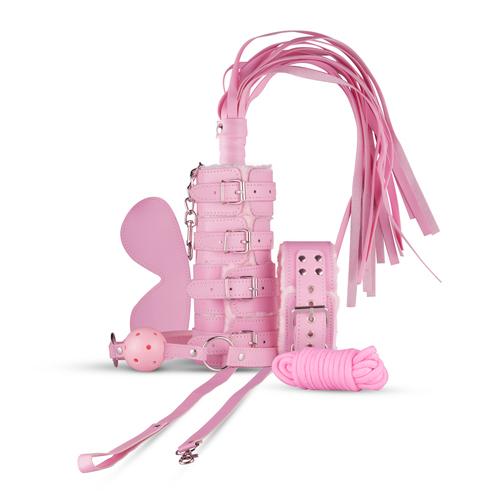 Kit 9 piezas bondage rosa