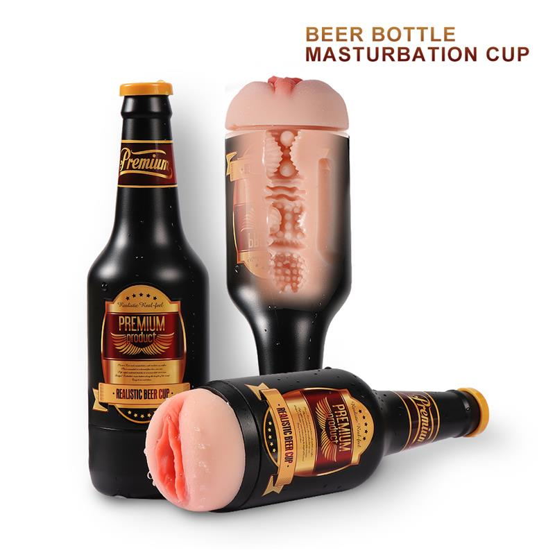 Masturbador botella cerveza