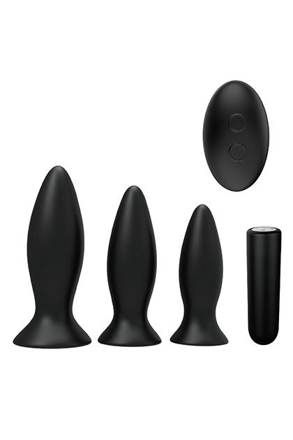 Pack plugs anales recaregable con mando