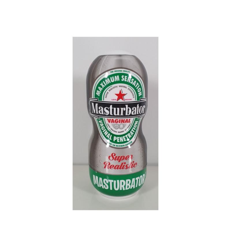 Masturbador vagina lata cerveza