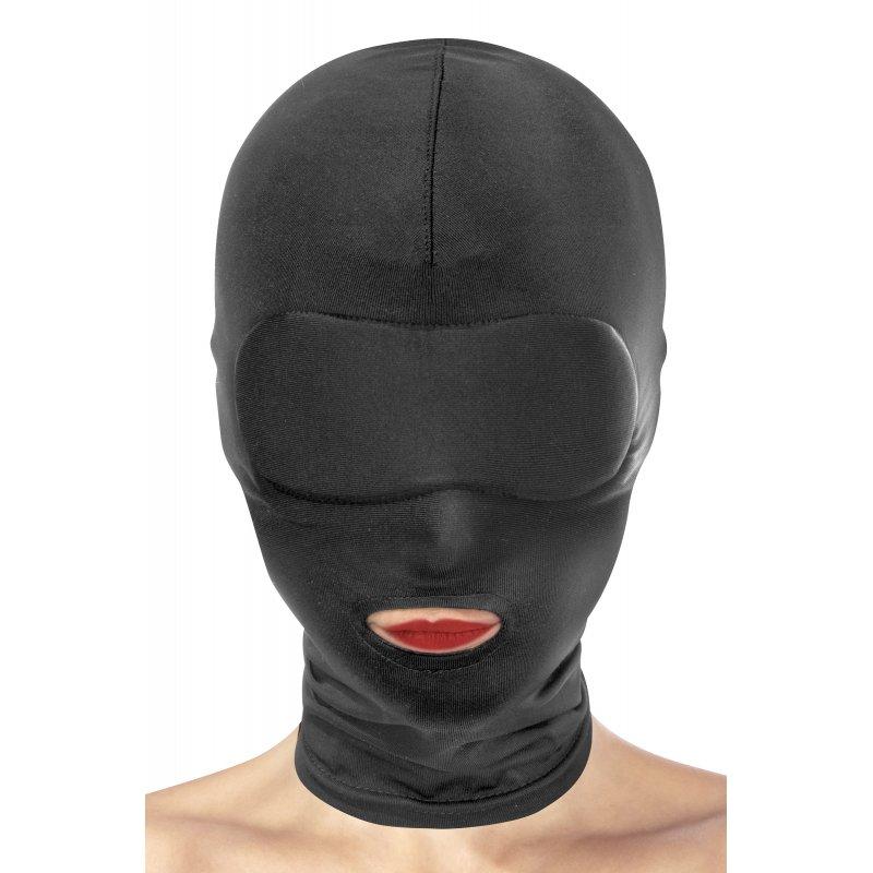 Máscara spandex negra 1 abertura