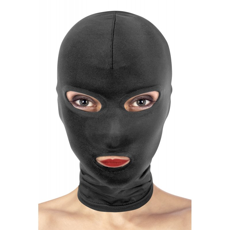 Máscara spandex negra 3 aberturas