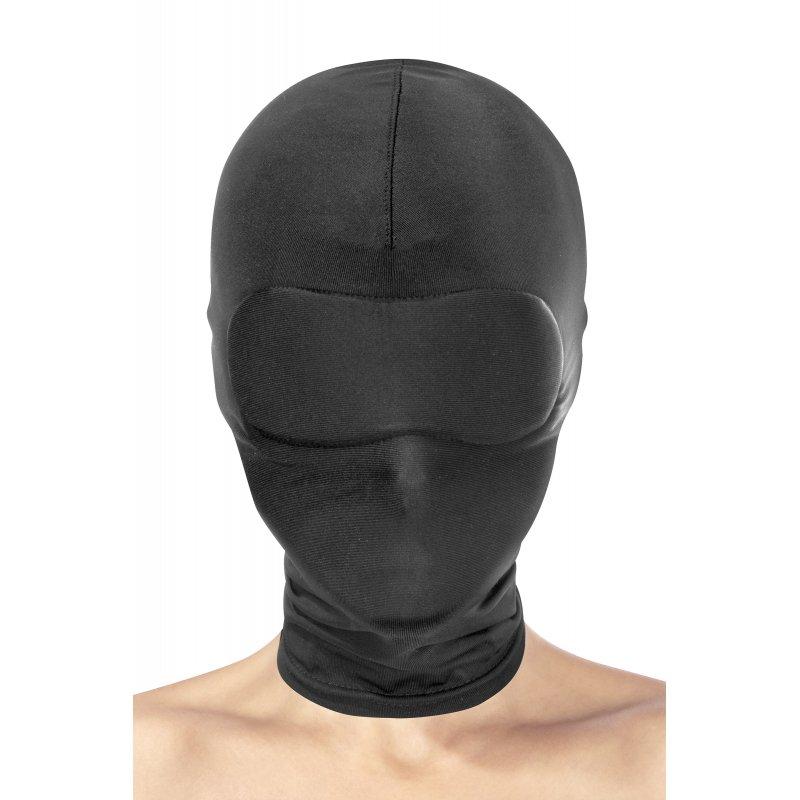 Máscara spandex negra sin aberturas