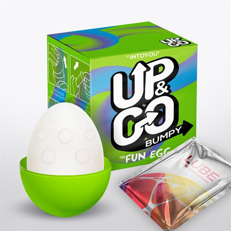 Huevo masturbador silicona Bumpy