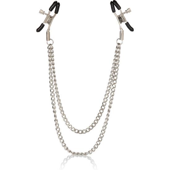 Pinzas para pezones con doble cadena