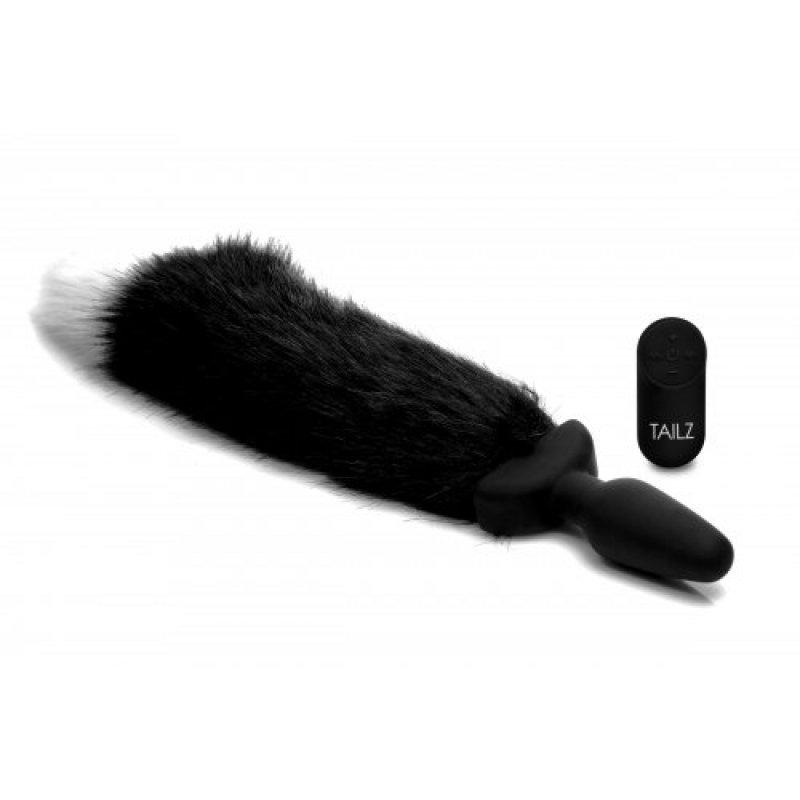 imagen de Plug rotador/vibrador recargable con cola de zorro