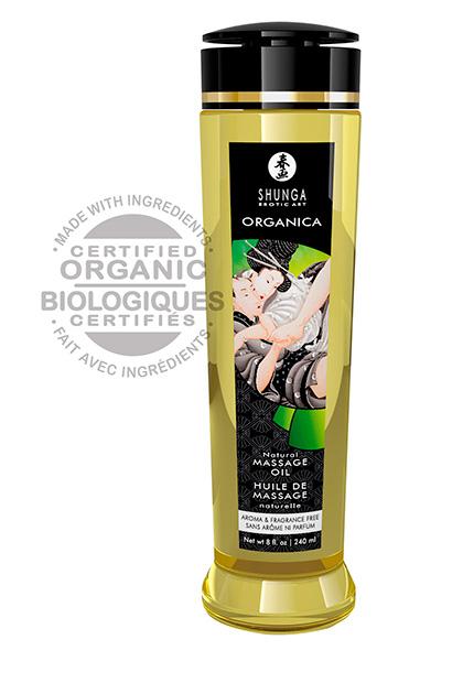 Aceites de masaje natural sin aroma ni sabor