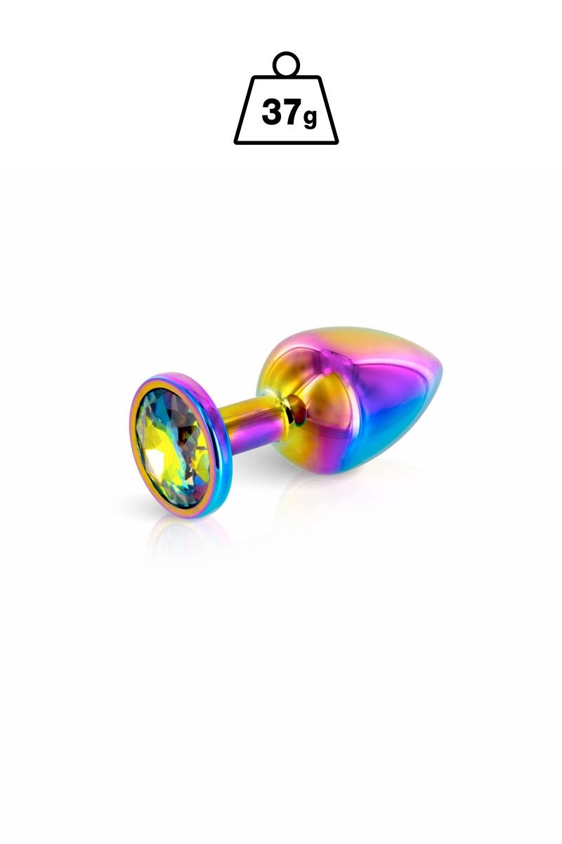 Plug anal bijou con joya 37gr multicolor