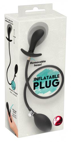 Plug anal hinchable con bola de metal