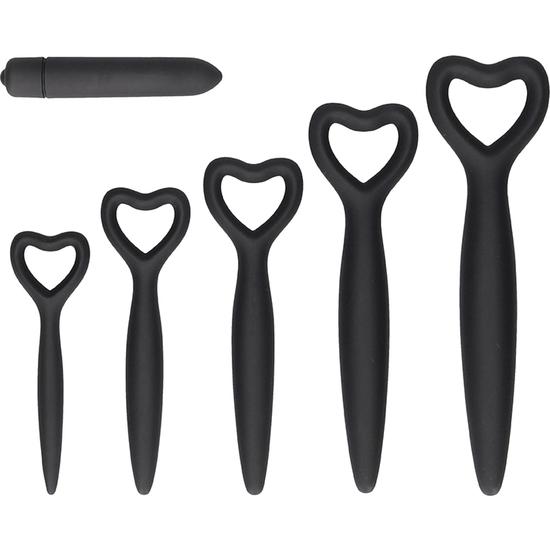 Set dilatadores vaginales con bala vibradora